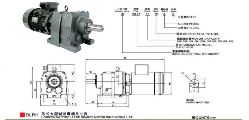 cấu tạo motor giảm tốc chân đế