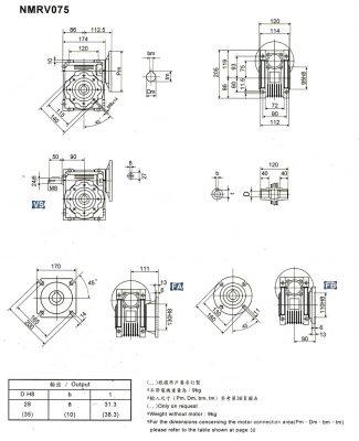 cấu tạo hộp giảm tốc vuông gốc nmrv