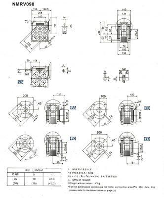 cấu tạo hộp giảm tốc cốt âm vuông gốc
